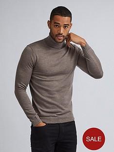 burton-menswear-london-merino-roll-neck-jumper-grey