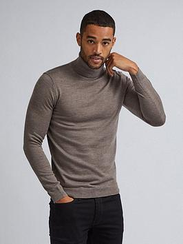 Burton Menswear London Burton Menswear London Merino Roll Neck Jumper -  ... Picture