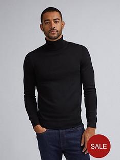 burton-menswear-london-merino-roll-neck-jumper-black