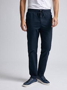 burton-menswear-london-washed-cotton-joggers-navy