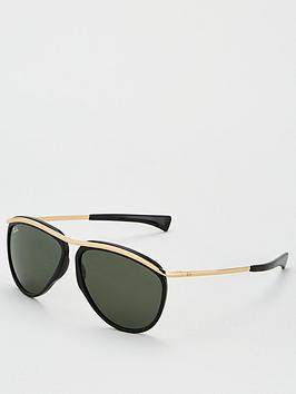 Ray-Ban Ray-Ban Olympian Aviator Sunglasses - Black/Gold Picture
