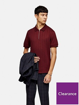 topman-short-sleeve-mesh-polo-burgundy