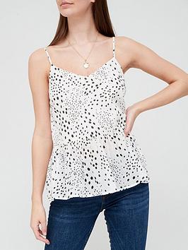 v-by-very-gathered-cotton-cami-polka-dot