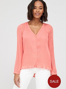 v-by-very-pleated-button-through-blousenbsp--pink