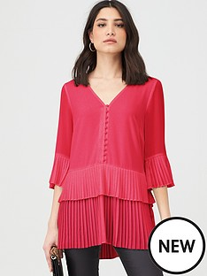 v-by-very-pleated-longline-button-tunic-pink
