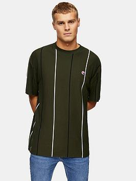 Topman Topman Striped T-Shirt By Topman - Khaki Picture