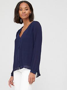 v-by-very-plisse-longline-button-thru-tunic