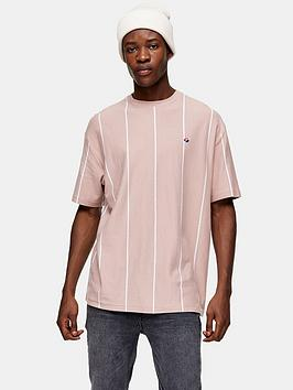 Topman Topman Striped T-Shirt - Pink Picture