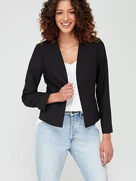 Wallis Wallis Edge To Edge Smart Blazer Jacket - Black Picture