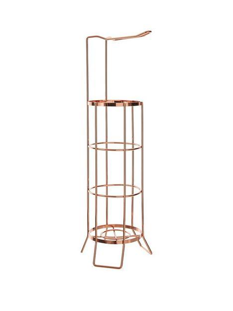 premier-housewares-rose-gold-toilet-roll-holder