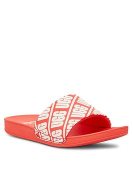 Ugg Ugg Logo Beach Sliders - Coral Picture