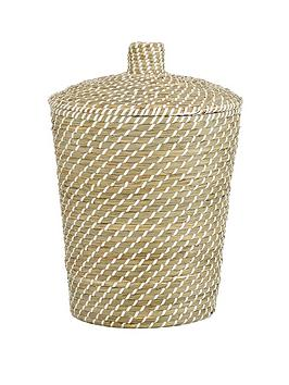 Very Natural Weaved Laundry Hamper Picture