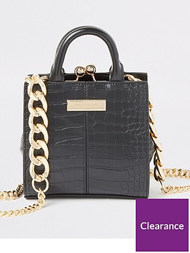 river-island-river-island-chain-handle-mini-bag-black