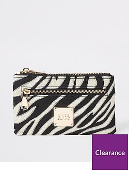 river-island-zebra-print-mini-pouch-purse-black
