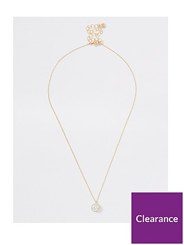 river-island-river-island-cubic-zirconia-circle-stone-necklace-gold