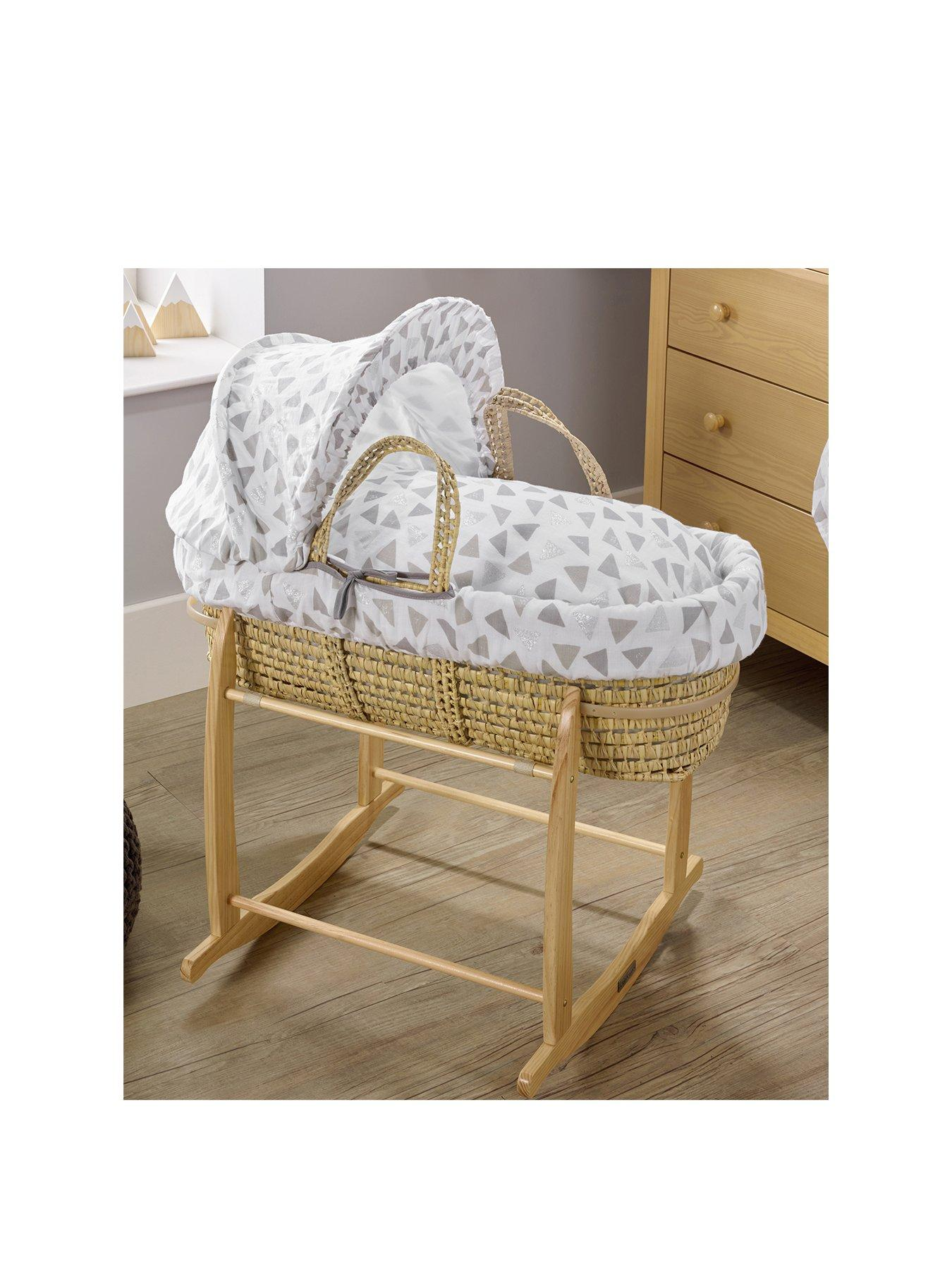 Baby Pram Moses Basket Mattress Waterproof Made in England  Top Quality 74 X 28