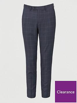 very-man-regular-fit-check-trouser-navy