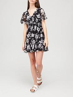 v-by-very-woven-mini-printed-dress-floral