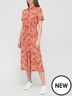 v-by-very-woven-casual-printed-shirt-dress-orange-floral