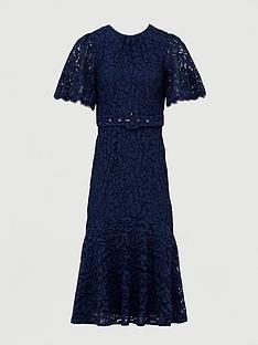 v-by-very-lace-beltednbspmidi-dress-navy
