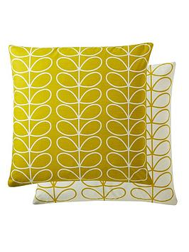 Product photograph showing Orla Kiely House Small Linear Stem Cushion