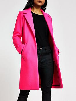 RI Petite Ri Petite Single Breasted Smart Coat - Pink Picture
