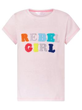 Accessorize Accessorize Girls Rebel Girl T Shirt - Pink Picture