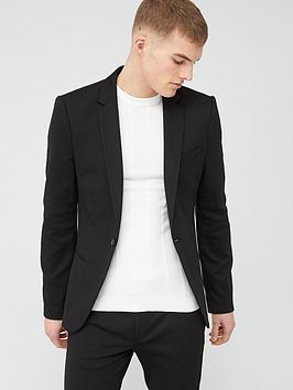 River Island River Island Super Skinny Suit Jacket - Black Picture