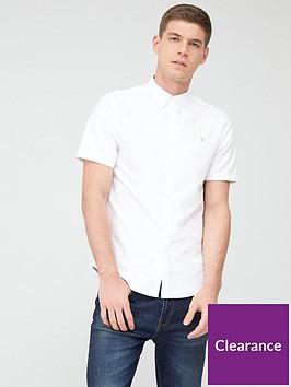 farah-brewer-short-sleeve-oxford-shirt-white