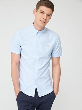 Farah Farah Brewer Short Sleeve Oxford Shirt - Sky Blue Picture