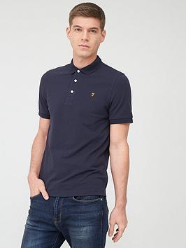 farah-blanes-pique-polo-shirt-navy