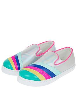 Accessorize   Girls Rainbow Stripe Pumps - Multi