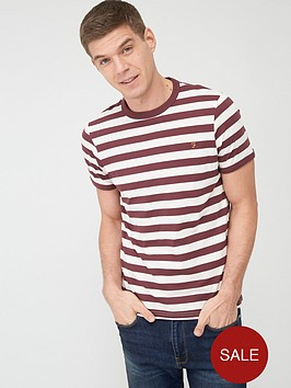 farah-belgrove-stripe-t-shirt-red