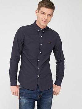 Farah Farah Brewer Oxford Shirt - Navy Picture