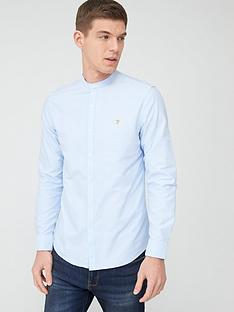 farah-grandad-oxford-shirt-sky-blue