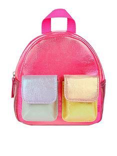 accessorize-girls-colourblock-metallic-mini-backpack-multi