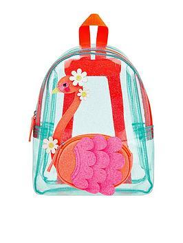 Accessorize Accessorize Girls Flora Flamingo Jelly Backpack - Aqua Picture