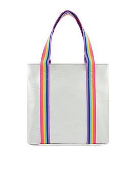 Accessorize Accessorize Girls Rainbow Stripe Metallic Shopper Bag -  ... Picture