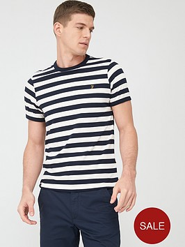 farah-belgrove-stripe-t-shirt-navy