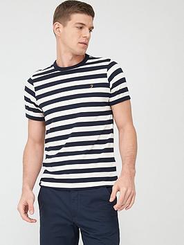 Farah Farah Belgrove Stripe T-Shirt - Navy Picture