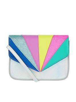 Accessorize Accessorize Girls Retro Rainbow X Body Bag - Multi Picture
