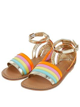 Accessorize   Girls Rainbow Sandals - Multi
