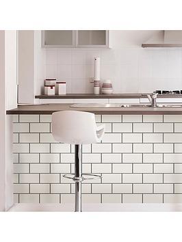 InHome Inhome Pack Of 4 Subway Tile Peel &Amp; Stick Backsplash Tiles Picture