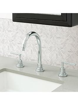 InHome Inhome Pack Of 4 Herringbone Carrrara Peel &Amp; Stick Backsplash  ... Picture