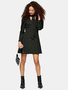 Topshop Topshop Petite Mini Shirt Dress - Khaki Picture