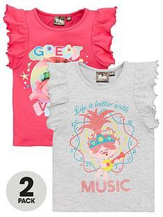 dreamworks-trolls-girls-2nbsppack-frill-t-shirts-pinkgrey
