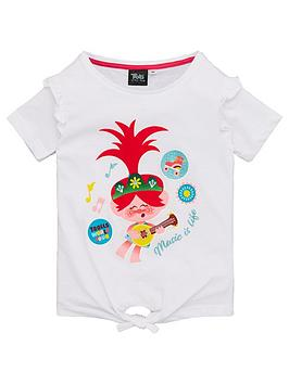 dreamworks trolls Dreamworks Trolls Girls Tie Detail Music Is Life T-Shirt  ... Picture