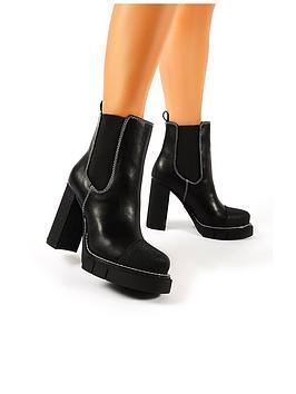 Public Desire Public Desire Antix Ankle Boot - Black Picture