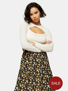 topshop-petite-cut-out-long-sleeve-top-cream