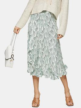Topshop Topshop Idol Wisteria Ruffle Midi Skirt - Mint Picture